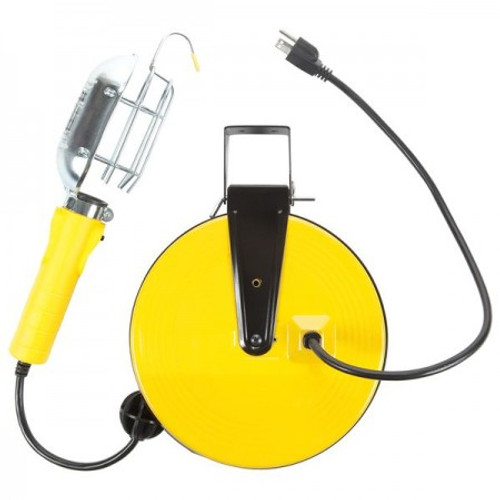 Bayco SL-840 Incandescent Work Light w/Metal Guard & Single Outlet
