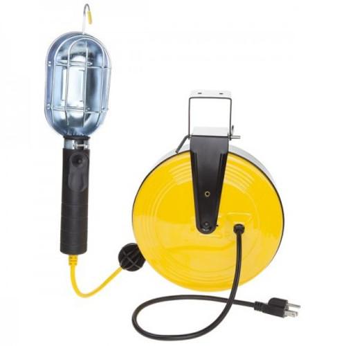 Bayco SL-851 Incandescent Work Light w/Metal Guard on 50ft Metal Reel