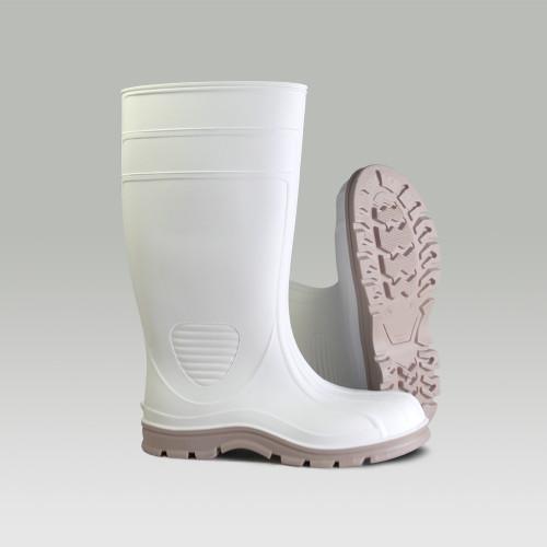"HF 70665 White Premier Economy Industrial Steel Toe Boots (8""-13"")"