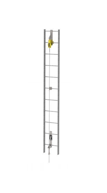 MSA Vertical Ladder Lifeline Kit with Extension Post
