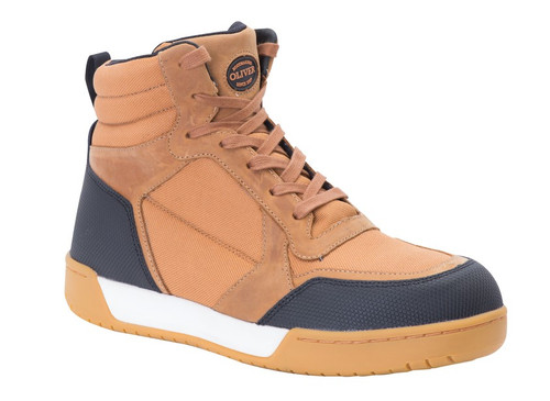 Oliver NEXTGEN  Tan/Black Leather/Fabric Work Boots