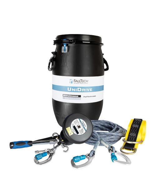 Falltech Crane Rescue and Descent Kit UniDrive System w/ Sealed Barrel