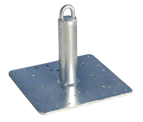 Roof Zone 48591 Welded Steel Galvanized Roof Anchor 16 X 16