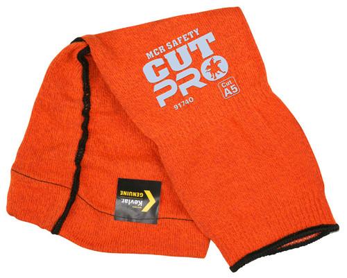 "MCR 9174O Memphis 13 gauge 14"" Orange Kevlar Sleeve w/ Elbow Gusset"