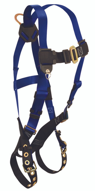 FallTech 7016 Contractors Full Body Harness with Tongue Buckle Legs