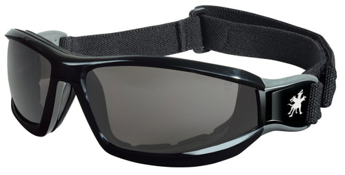 MCR RP112AF RP1 Series Goggle Black head band w/ Gray Anti-Fog lens (Dozen)