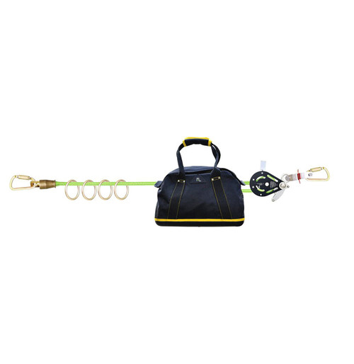 Frontline 4-person 100ft Adjustable Horizontal Lifeline System with 6ft Anchor Straps