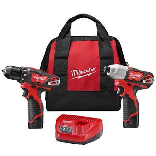 Milwaukee 2494-22 Cordless 2-Tool Combo Kit M12