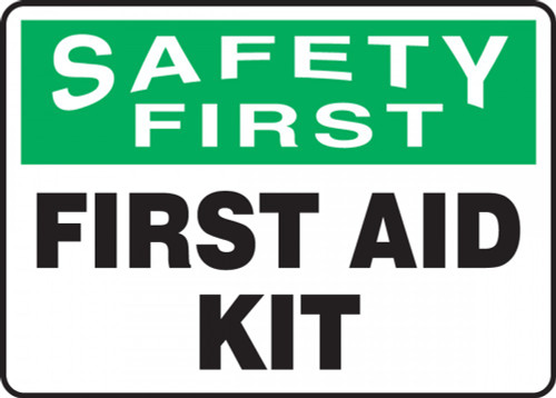 Accuform MFSD903VP OSHA Safety First Safety Sign: First Aid Kit