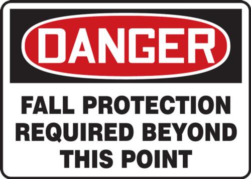 Accuform MFPR105VP OSHA Danger Fall Protection Sign