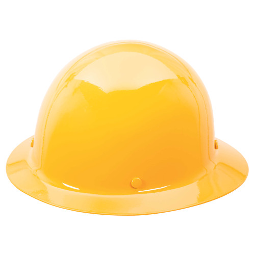 MSA Skullgard Protective Hat Yellow with Staz-On Suspension (454666)