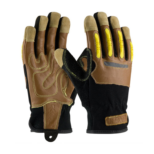 PIP 120-4100 All Purpose Work Gloves, Dotted Synthetic Leather Palm