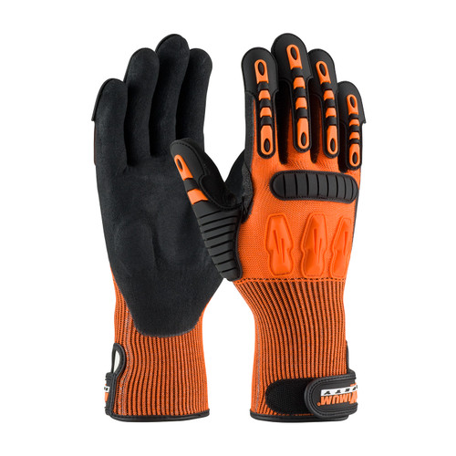 PIP 120-5150 Oil & Gas Gloves Nitrile MS Coated Padded Palm, A4