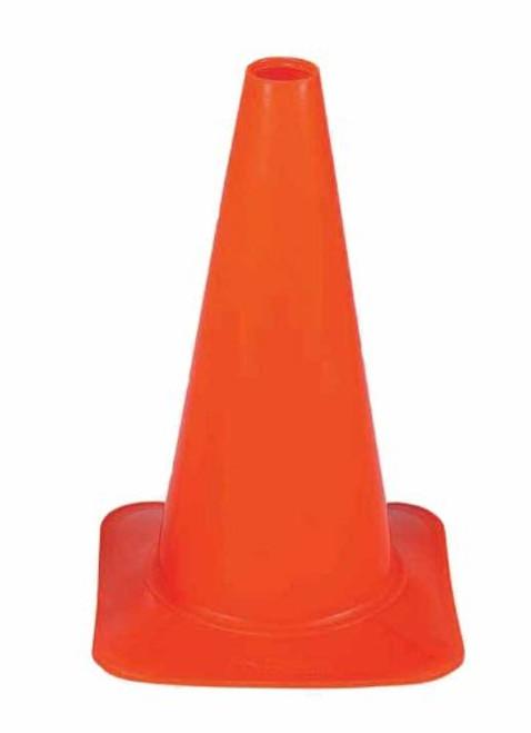 "Cortina 03-500-42 Polyethylene Sport Cone, 18"" Height, Orange"