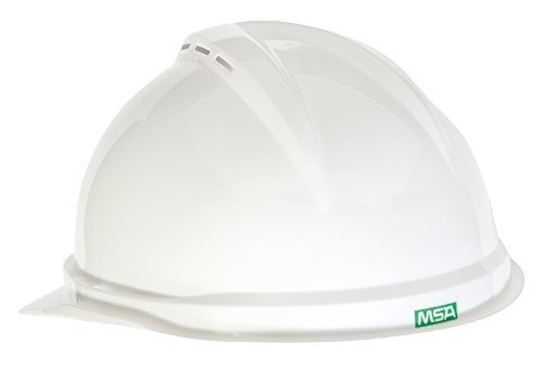 MSA -10034018 - V-Gard 500 Cap, White Vented, 4-Point Fas-Trac III