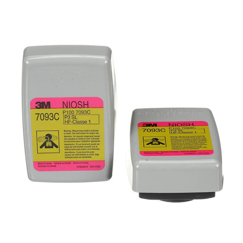 3M 7093C Hydrogen Fluoride Cartridge/Filter P100 (2 Units)