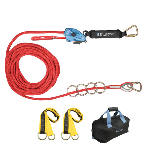 FallTech 772060 Four User 60' Horizontal Lifeline Kit