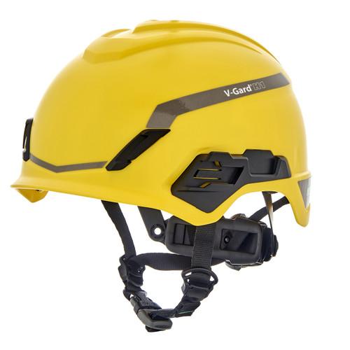 MSA V-Gard H1 Safety Helmet Novent Fas-Trac III Pivot