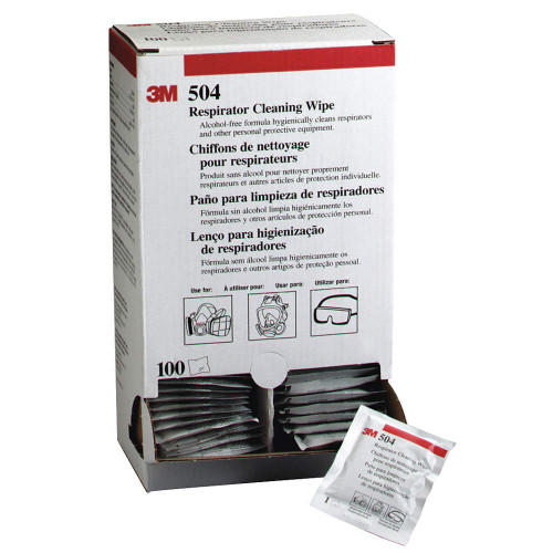 3M 504 Respirator Cleaning Wipes (100/Pack)