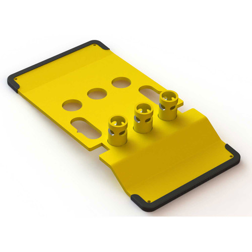 Roof Zone 70756 Zip Base for Guardrails Yellow