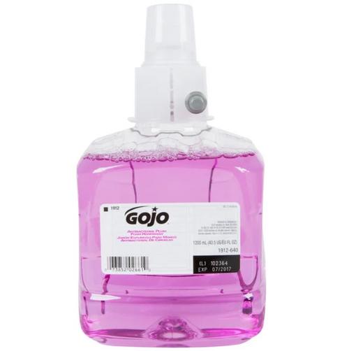 Gojo 1912-02 Antibacterial Plum Foam Handwash 1200 mL (2 Ea/Case)