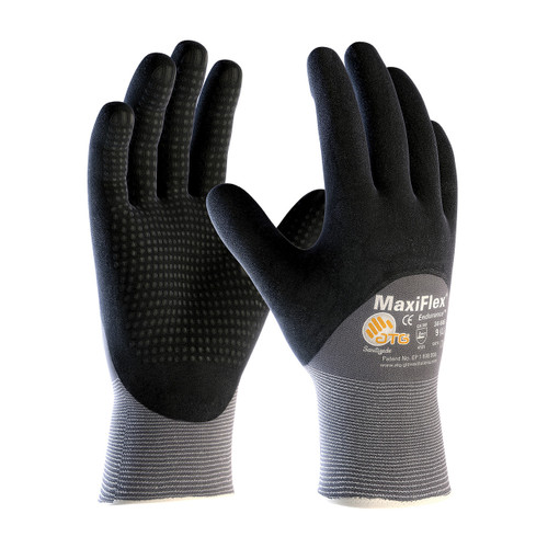 MaxiFlex 34-845 Gloves with Nitrile Micro-Foam Grip (Pair)
