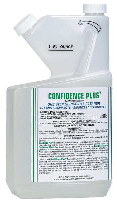 MSA 10009971 Confidence Plus Germicidal Cleaner (32oz)