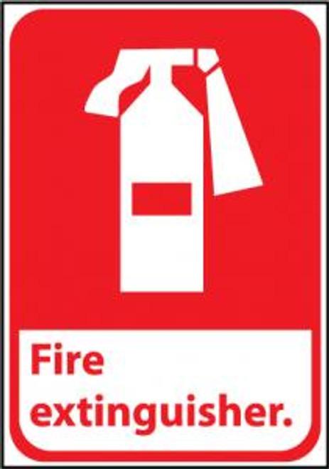 "NMC FGA3R ""Fire Extinguisher"" Rigid Plastic Sign"