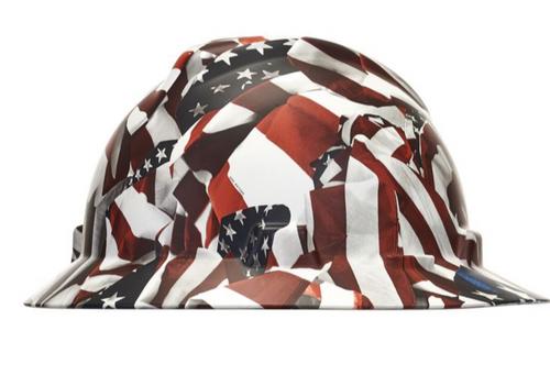 MSA 10204780 One Nation V-Gard Hydro Dip Hard Hat with Fast trac III
