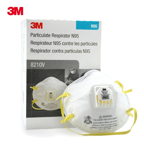 3M 8210V N95 Particulate Respirator with Valve (Box)