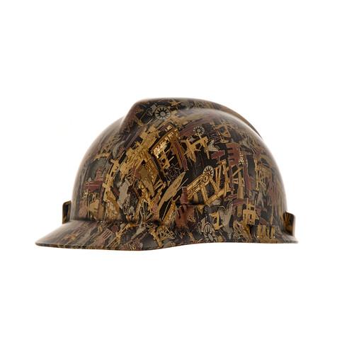 MSA 10204774 Oilfield Camo V-Gard Hydro Dip Hard Hat Cap Style