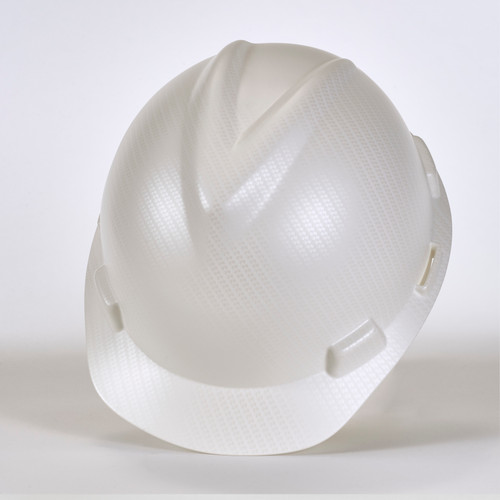 MSA 10204776 Silver Carbon Fiber V-Gard Hydro Dip Hard Hat Cap Style
