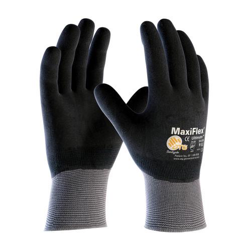 MaxiFlex 34-876 Gloves Nitrile Micro-Foam Grip on Full Hand (Pair)