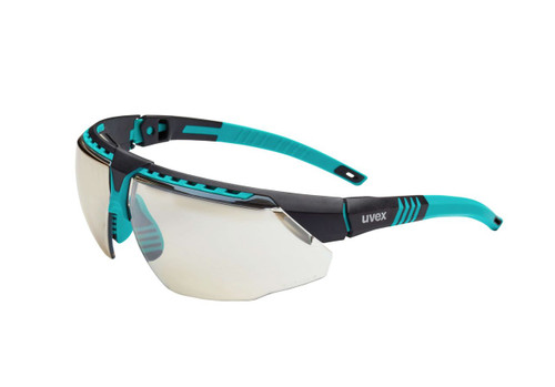 Uvex S2884 Avatar Safety Glasses with Teal Frame and Scratch Resistant Lens