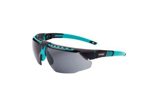 Uvex S2881HS Avatar Teal Frame Gray Lens Safety Glasses with Hydroshield Coating