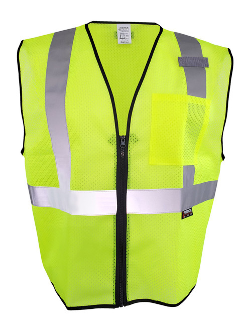 Fierce Safety EC150G Class 2 Economy Green Reflective Vest