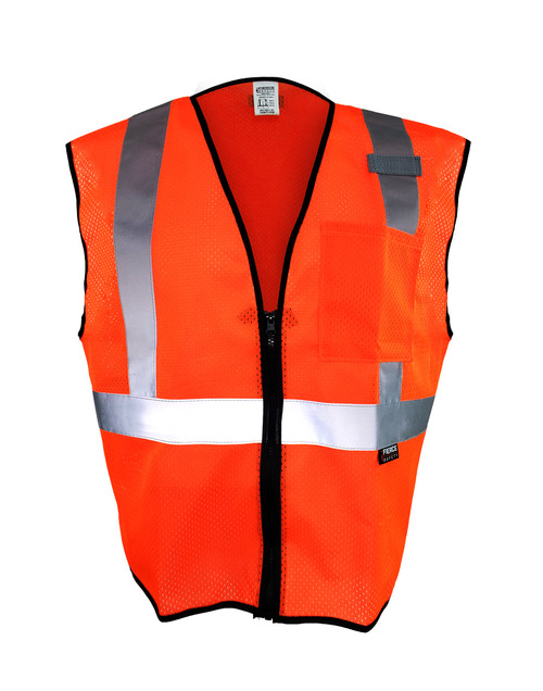 Fierce Safety EC150O Class 2 Economy Orange Reflective Vest