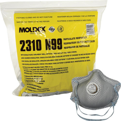 Moldex 2310N99 Premium Particulate N99 Respirator with Exhale Valve (10/Bag)