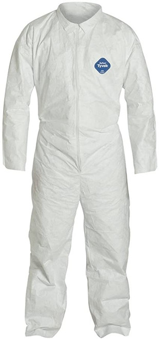 Dupont TY125S Tyvek 400 Coverall w/ Elastic Wrists and Ankles (White)