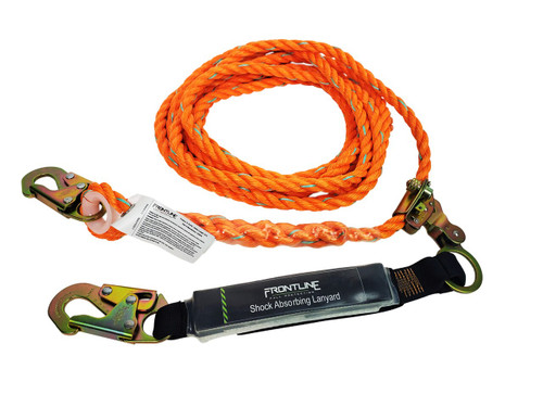 Frontline Premium Vertical Lifeline with Openable Rope Grab and SAL