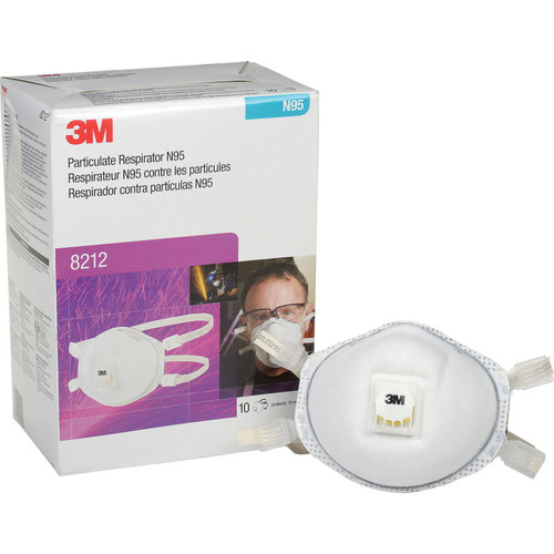 3M 8212 N95 Disposable Respirator Welding Series Cool Flow (Box/10)