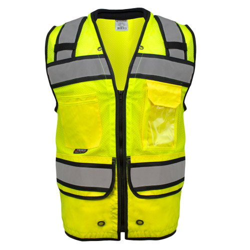 Fierce Safety SU350 Superior Surveyors Class 2 Safety Vest with Tablet Pockets and Neck Padding