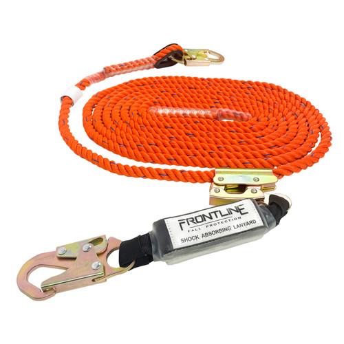 "Frontline Premium Vertical Lifeline with 12"" SAL and Rope Grab"