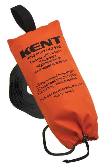 Kent Safety 152500-200-999-17 Ring Buoy Line Bag with 100 ft. Line