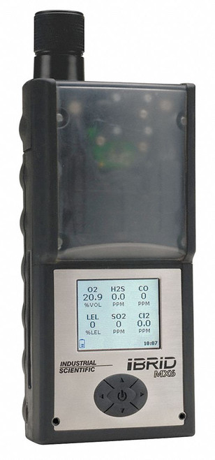 Industrial Scientific MX6 iBrid with Pump Gas Monitor (PID-LEL-O2-CO-H2S)