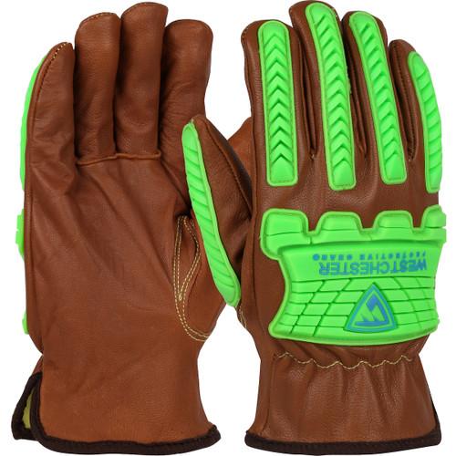 PIP KS993KOAB Boss Xtreme Oil Armor Finish Top Grain Goatskin Leather Drivers Glove