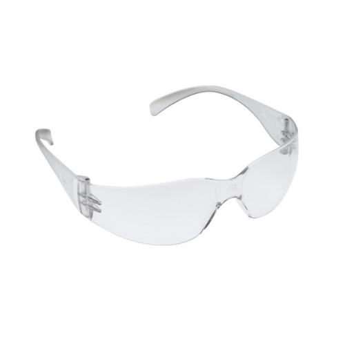 3M Virtua Safety Glasses with Clear Uncoated Lens Clear Temple