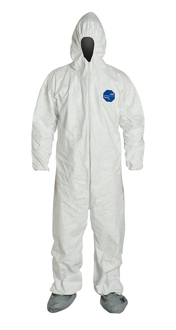 Dupont TY122S Tyvek Coverall Suit with Hood and Boots