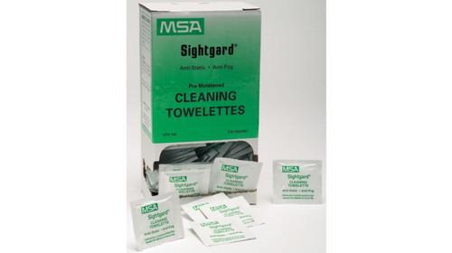 MSA 10022087 Cleaning Towelettes Anti-Fog and Anti-Static Box (100)