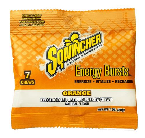 Sqwincher 010370-OR Orange Energy Bursts Chews (8/Case)